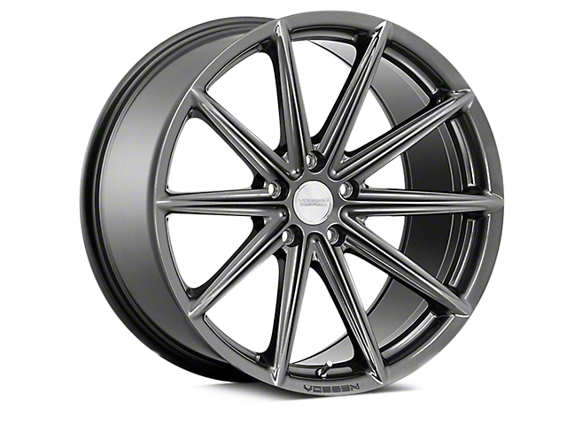 Vossen VFS-10 Gloss Graphite Wheel; Rear Only; 20x10.5 (05-09 All)