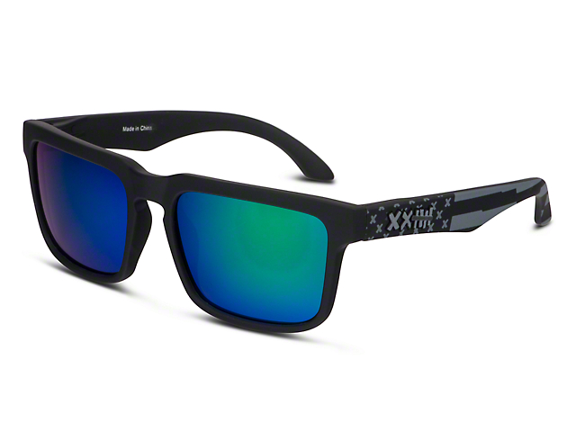 RTR VGRJ Signature Sunglasses - Black/Green Flag