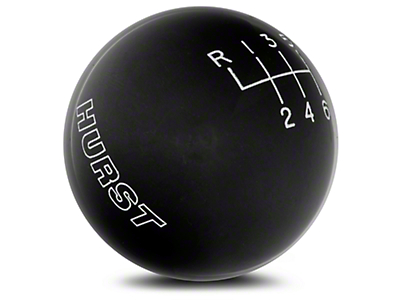 Hurst Classic 6-Speed Shift Knob - Black (15-18 GT, EcoBoost, V6)