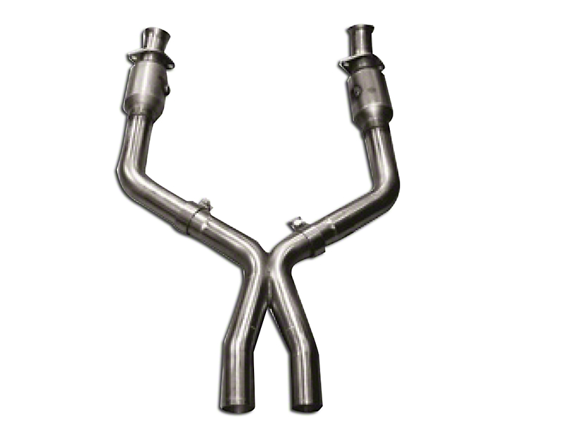 Kooks 3 in. x 3 in. Catted X-Pipe (05-10 GT w/ Long Tube Headers)