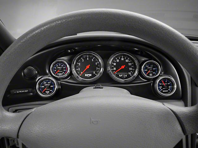 Auto Meter Direct Fit Dash Gauge Panel for Two 3-3/8 in. & Four 2-1/16 in. Gauges (94-04 All)