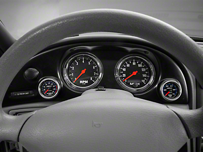 Auto Meter Direct Fit Dash Gauge Panel for Two 5 in. & Two 2-1/16 in. Gauges (94-04 All)