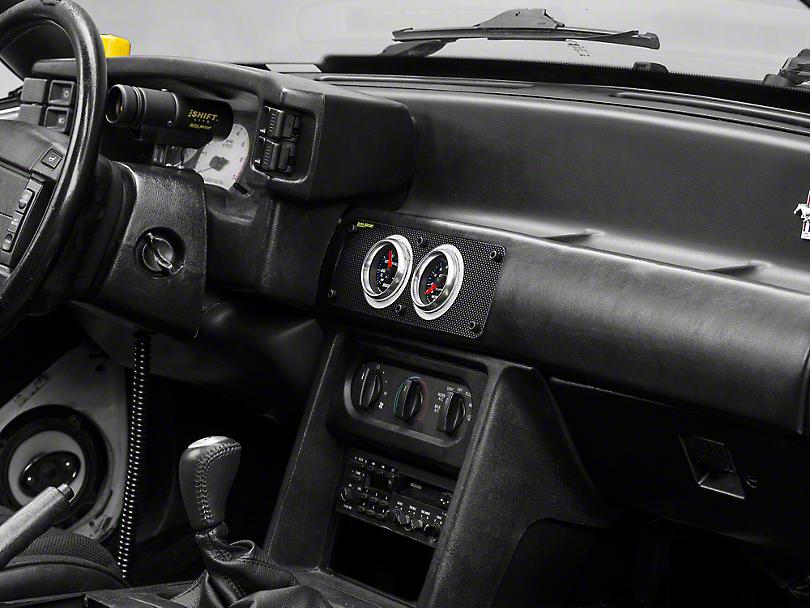 Auto Meter Carbon Fiber Look Gauge Cage - Dual 2-5/8 in. (87-93 All)