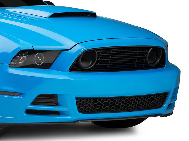 T-REX Black Billet Pony Delete Upper Overlay Grille (13-14 GT)
