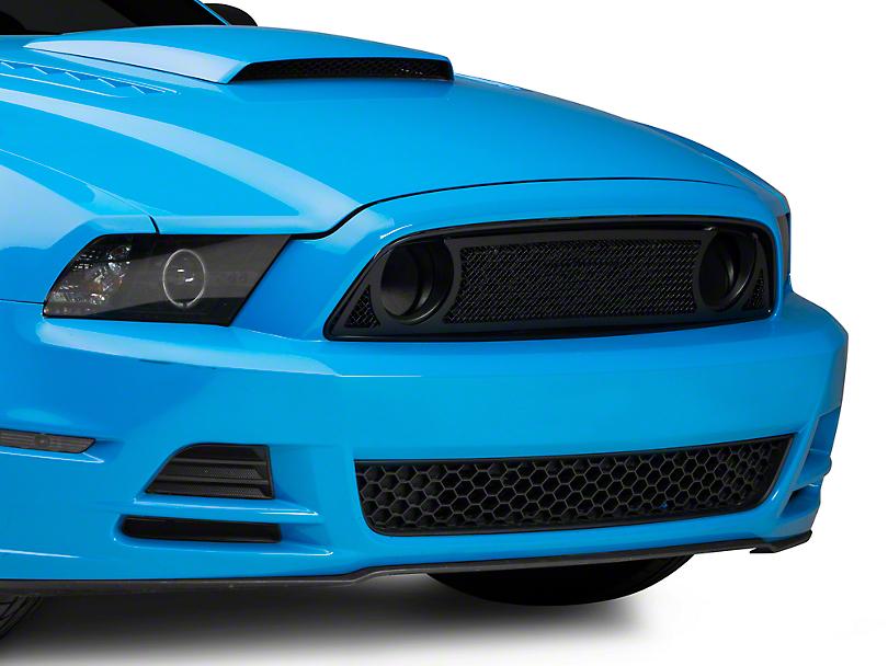 T-REX Black Upper Class Series Upper Overlay Grilles (13-14 GT)