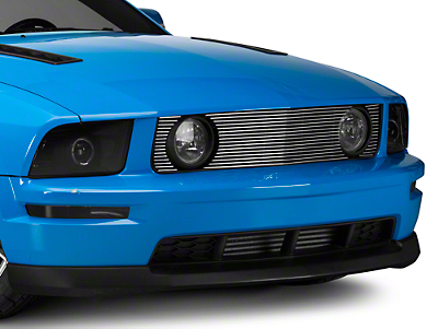 T-REX Billet Pony Delete Upper Grille - Polished (05-09 GT)