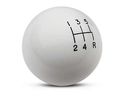 Hurst Classic 5-Speed Shift Knob - White (79-04 All, Excluding 03-04 Cobra)