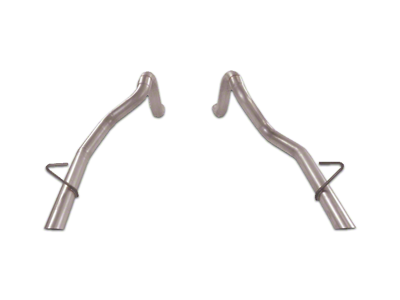 Flowmaster 2.5 in. Prebent Tailpipes (87-93 LX; 1986 GT)