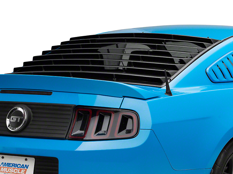 E&G EGX Rear Window Louvers - Textured Black (05-14 Coupe)