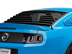 Rear Window Louvers; Textured Black (05-14 Coupe)