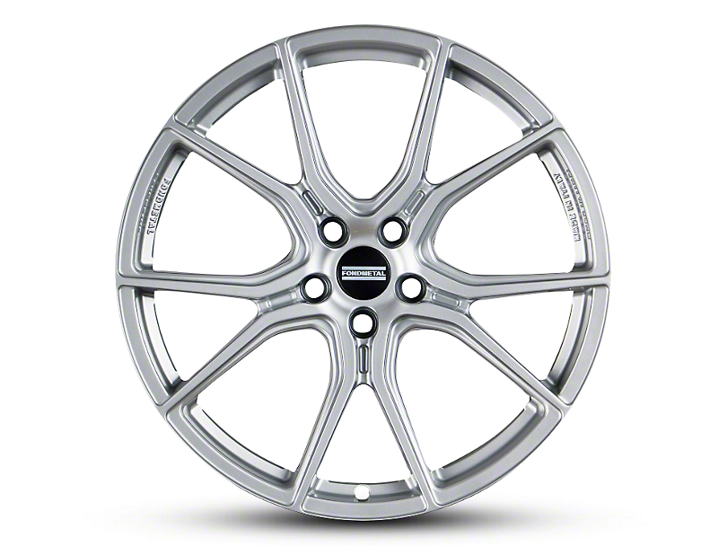 Fondmetal 191S Gloss Silver Wheel; Rear Only; 20x10.5 (10-14 All)