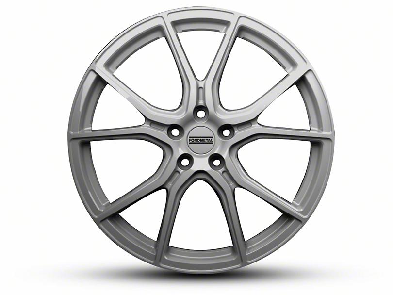 Fondmetal 191S Gloss Silver Wheel - 20x10.5 - Rear Only (15-19 GT, EcoBoost, V6)