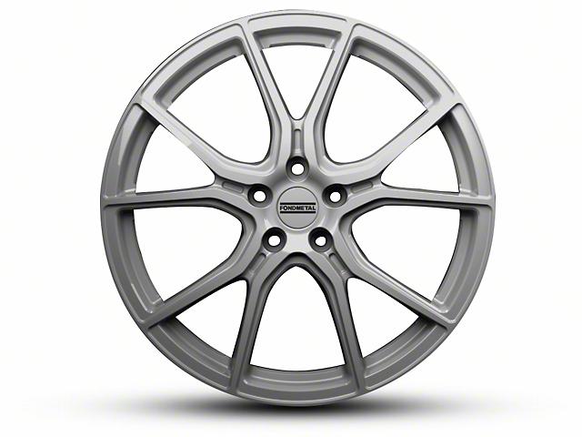 Fondmetal 191S Gloss Silver Wheel; Rear Only; 20x10.5 (15-20 GT, EcoBoost, V6)