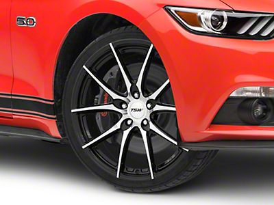 TSW Spring Gloss Black w/ Mirror Cut Face Wheel - 20x8.5 (15-18 EcoBoost, V6)