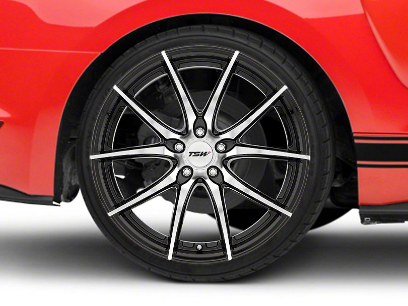 TSW Spring Gloss Black w/ Mirror Cut Face Wheel - 20x10 (15-19 EcoBoost, V6)