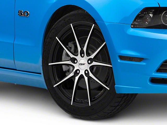 TSW Spring Gloss Black with Mirror Cut Face Wheel; 19x9.5 (10-14 Standard GT, V6)