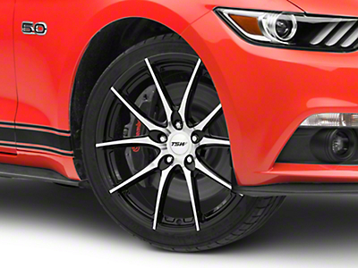 TSW Spring Gloss Black w/ Mirror Cut Face Wheel - 19x9.5 (15-19 EcoBoost, V6)