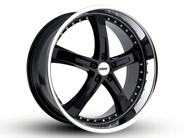 TSW Jarama Gloss Black w/ Mirror Cut Lip Wheel - 20x8.5 (15-17 GT, EcoBoost, V6)
