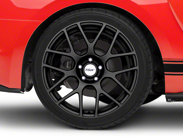 TSW Nurburgring Matte Gunmetal Wheel; Rear Only; 19x10.5 (15-20 GT, EcoBoost, V6)