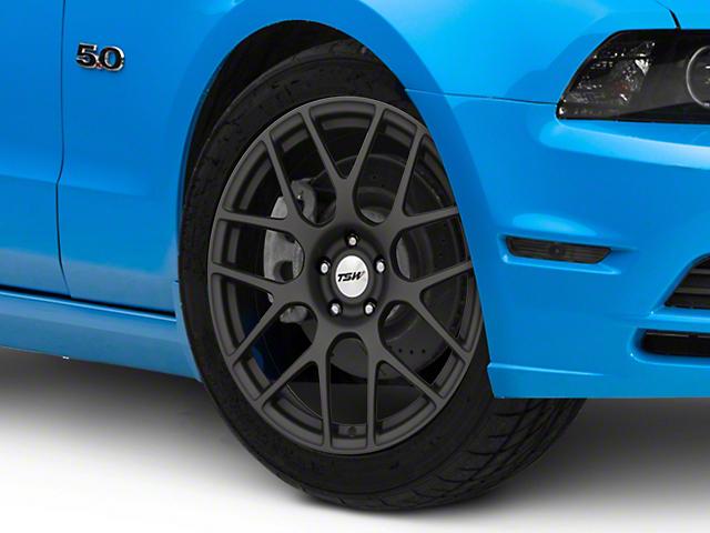 TSW Nurburgring Matte Gunmetal Wheel; 19x9 (10-14 All)