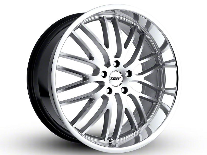 TSW Snetterton Hyper Silver with Mirror Cut Lip Wheel; 19x9.5 (10-14 Standard GT, V6)