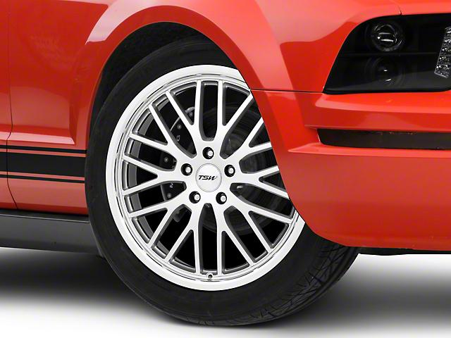 TSW Snetterton Hyper Silver w/ Mirror Cut Lip Wheel - 19x8 (05-14 Standard GT, V6)