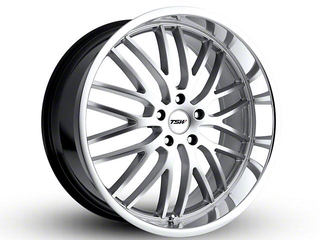TSW Snetterton Hyper Silver w/ Mirror Cut Lip Wheel - 19x9.5 (15-18 EcoBoost, V6)