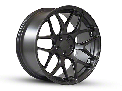Rovos Staggered Pretoria Satin Black Wheel & Nitto INVO Tire Kit - 18x9/10.5 (94-04 All)