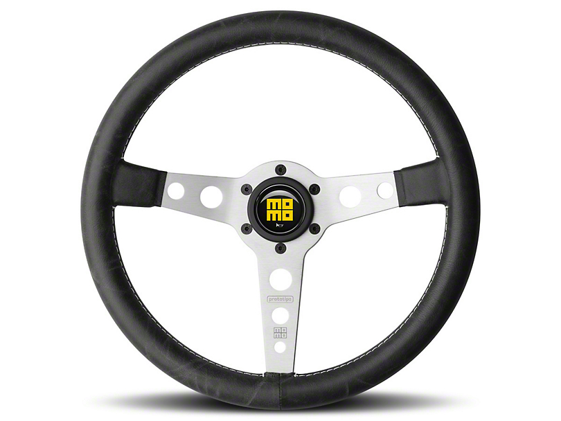 MOMO USA Prototipo Heritage Steering Wheel - Silver (84-18 All)