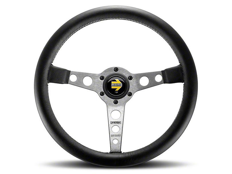 MOMO USA Prototipo Tuning Steering Wheel - Silver (84-18 All)