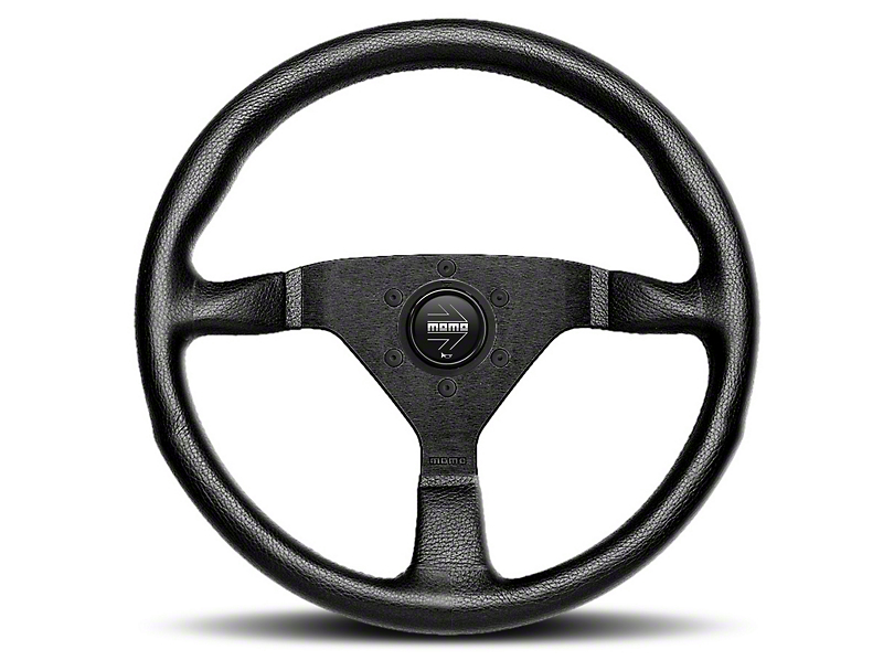 MOMO USA Monte Carlo 350 Steering Wheel - Red Stitching (84-18 All)