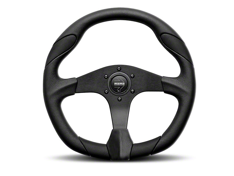 MOMO USA Quark Tuning Steering Wheel - Black (84-17 All)