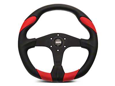 MOMO USA Quark Tuning Steering Wheel - Red (84-17 All)