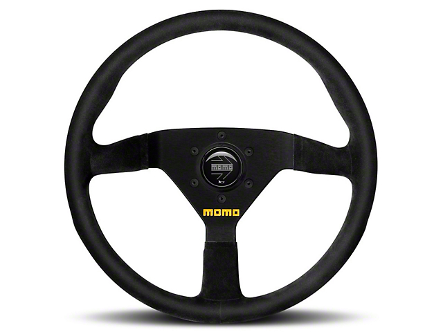 MOMO USA MOD 78 Racing Steering Wheel - Black Leather - 330mm Diameter (84-18 All)