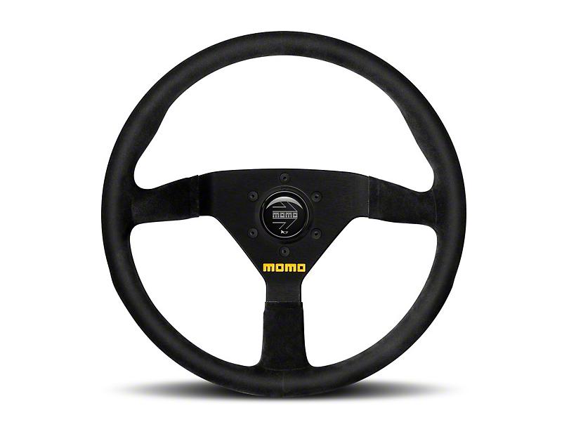 MOMO USA MOD 78 Racing Steering Wheel - Black Suede - 330mm Diameter (84-18 All)