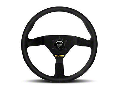 MOMO USA MOD 78 Racing Steering Wheel - Black Suede - 330mm Diameter (84-18 All)