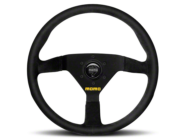 MOMO USA MOD 78 Racing Steering Wheel - Black Suede - 350mm Diameter (84-17 All)