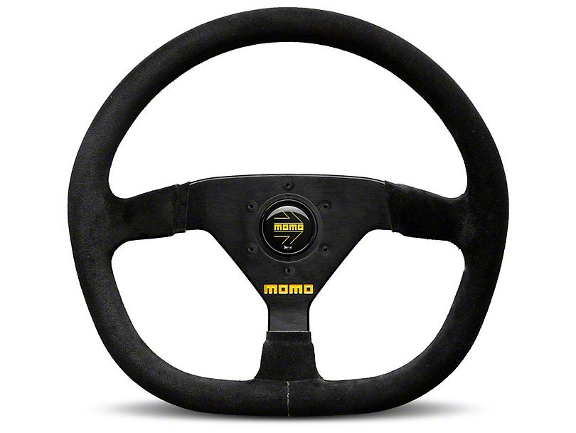 MOMO USA MOD 88 Racing Steering Wheel - Black Suede - 320mm Diameter (84-18 All)