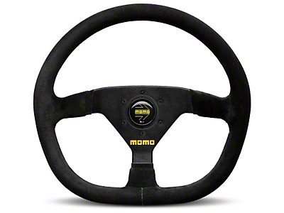 MOMO USA MOD 88 Racing Steering Wheel - Black Suede - 320mm Diameter (84-18 All)