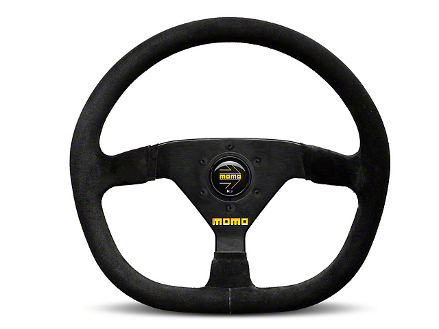 MOMO USA MOD 88 Racing Steering Wheel - Black Suede - 350mm Diameter (84-18 All)