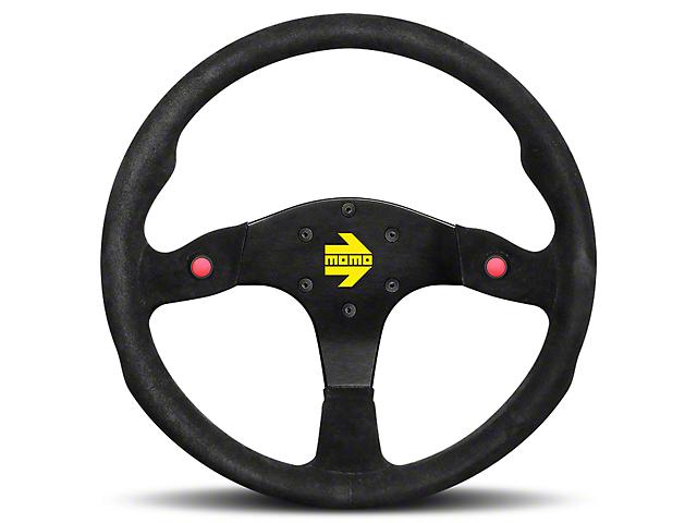MOMO USA MOD 80 Racing Steering Wheel - Black Suede - 350mm Diameter (84-18 All)
