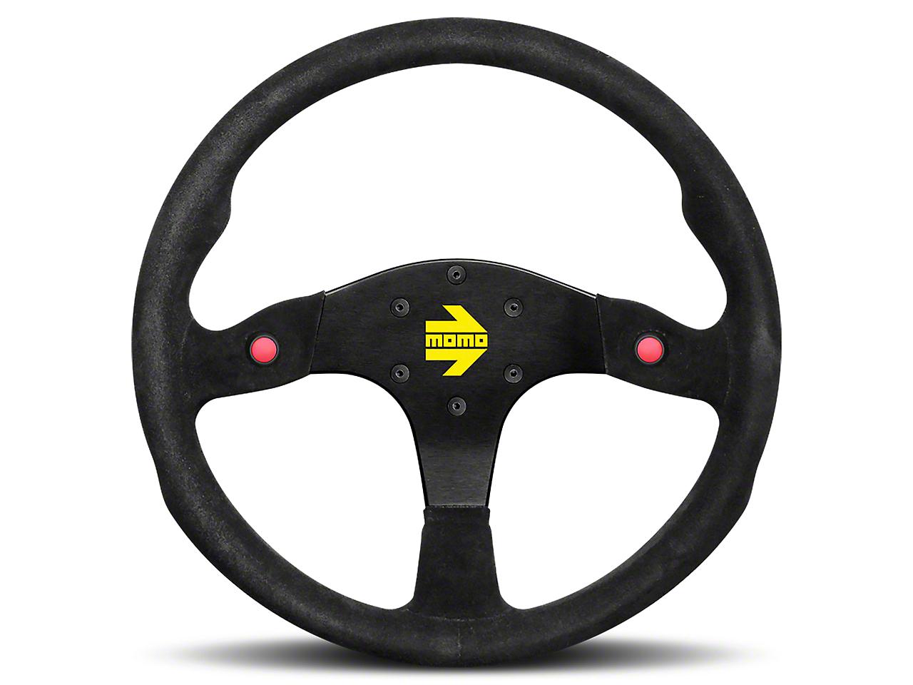 MOMO USA MOD 80 Racing Steering Wheel - Black Suede - 350mm Diameter (84-17 All)