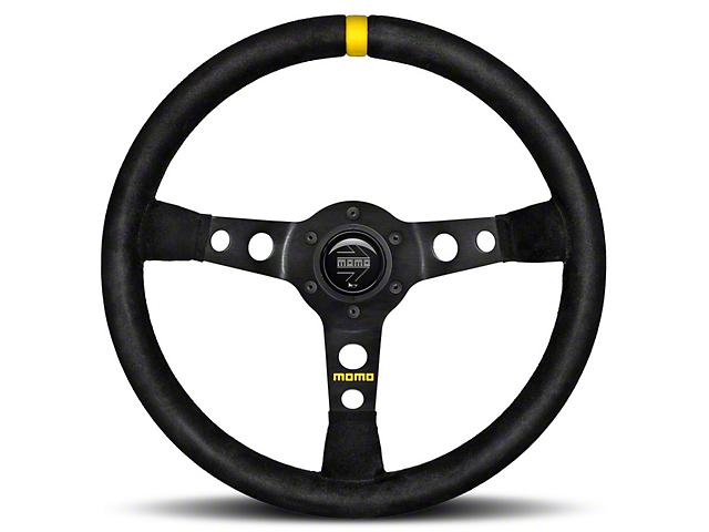 MOMO USA MOD 07 Racing Steering Wheel - Black Suede - 350mm Diameter (84-18 All)