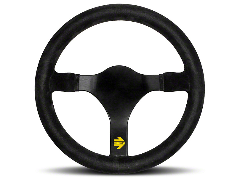 MOMO USA MOD 31 Racing Steering Wheel - Black Suede - 320mm Diameter (84-18 All)