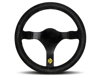 MOMO USA MOD 31 Racing Steering Wheel - Black Suede - 340mm Diameter (84-17 All)