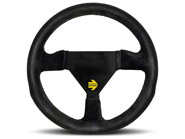 MOMO USA MOD 11 Racing Steering Wheel - Black Suede - 260mm Diameter (84-18 All)
