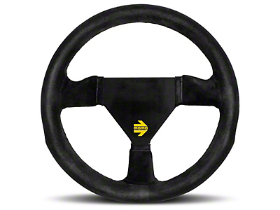 MOMO USA MOD 11 Racing Steering Wheel - Black Suede - 260mm Diameter (84-17 All)