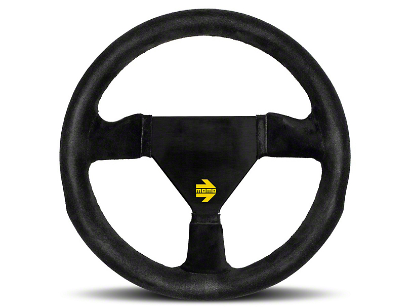 MOMO USA MOD 11 Racing Steering Wheel - Black Suede - 280mm Diameter (84-18 All)