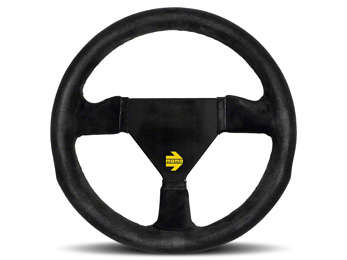 MOMO USA MOD 11 Racing Steering Wheel - Black Suede - 280mm Diameter (84-18 All)