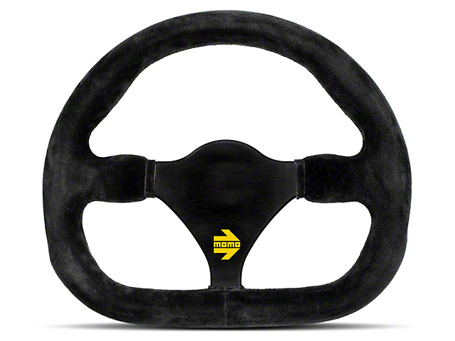 MOMO USA MOD 27 Racing Steering Wheel - Black Suede - 270mm Diameter (84-18 All)